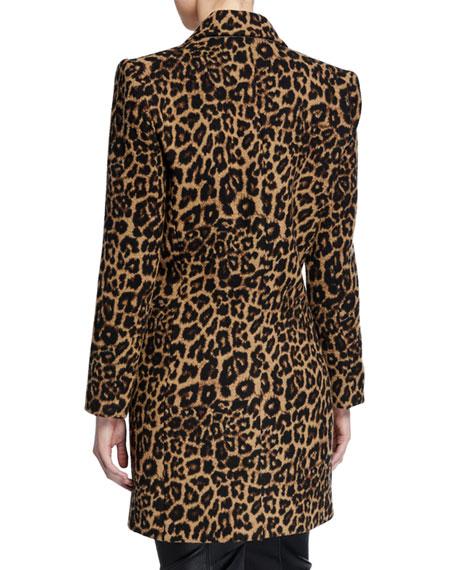 Veronica Beard Senna Leopard-Print Dickey Coat