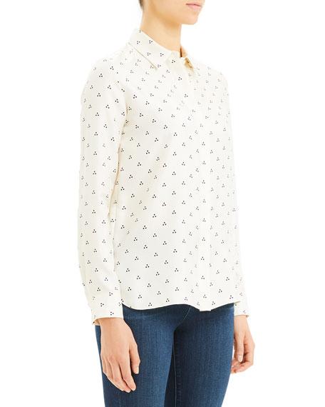 Theory Vintage Dot Classic Button-Down Shirt