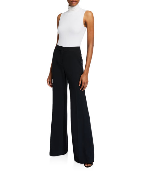 Veronica Beard Lebone High-Rise Wide-Leg Pants