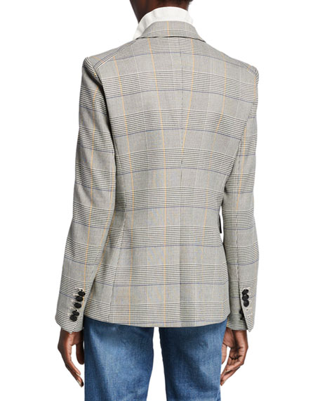 Veronica Beard Miller Glen Check Dickey Jacket