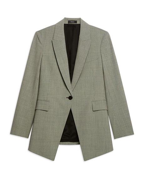3ee9ff7887 Theory Etiennette B Good Wool Long Blazer | Neiman Marcus