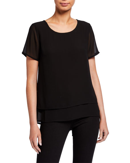 MICHAEL Michael Kors Solid Cutout Top