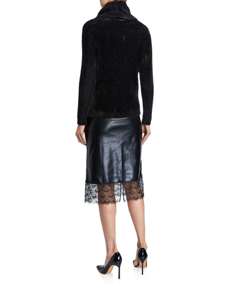 MICHAEL Michael Kors Fluffy Cowl-Neck Sweater