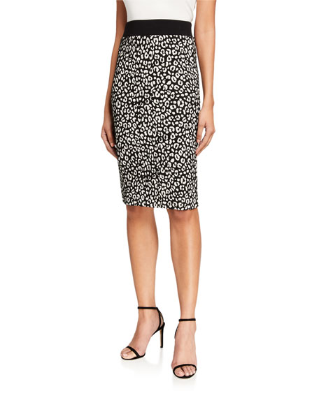 MICHAEL Michael Kors Animal Jacquard Pencil Skirt