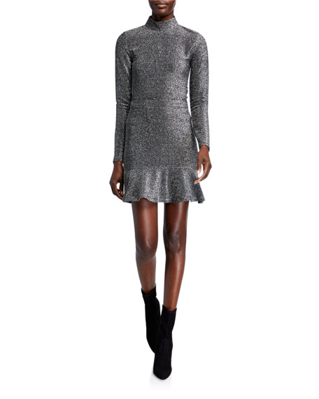 MICHAEL Michael Kors Metallic Flippy Mini Skirt