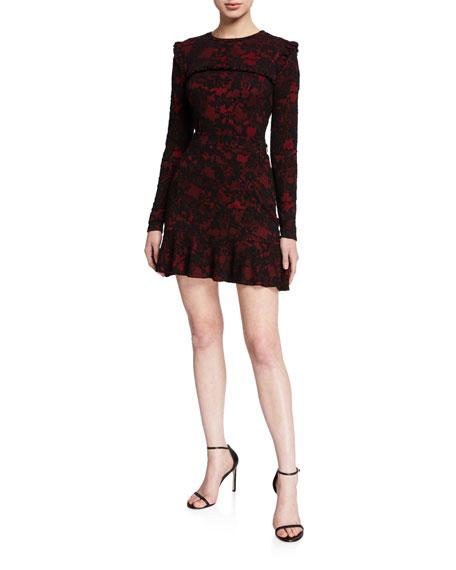 MICHAEL Michael Kors Glam Lace Mini Flippy Skirt