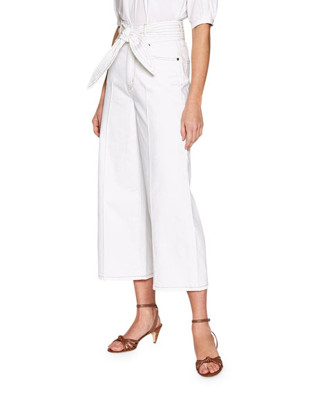 Joie Gadina Belted Wide-Leg Pants