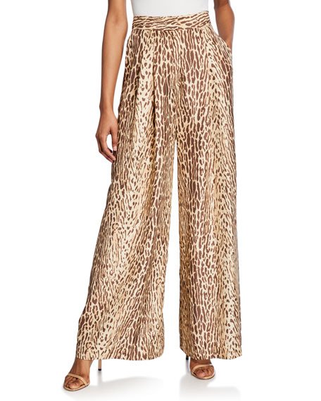 Zimmermann Espionage Silk Wide-Leg Pants