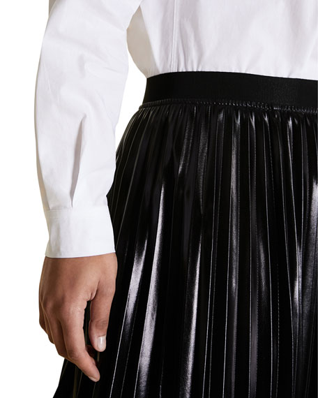 Marina Rinaldi Plus Size Pleated Vinyl Skirt