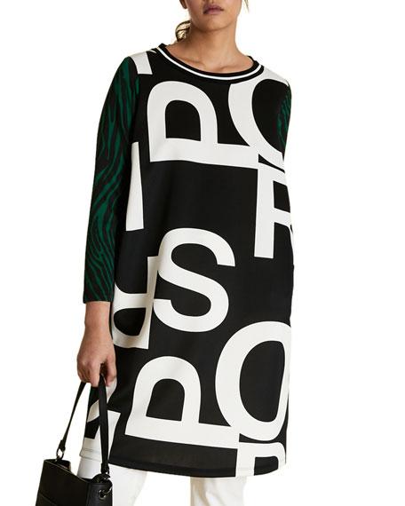 Marina Rinaldi Plus Size Graphic-Print Scuba Jersey Dress