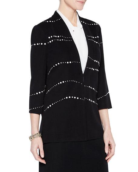Misook Plus Size Pearl Detail Jacket