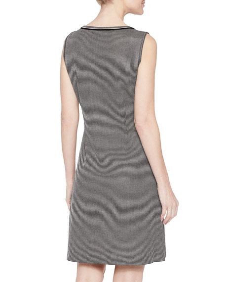 Misook Mini Tweed Sleeveless Sheath Dress