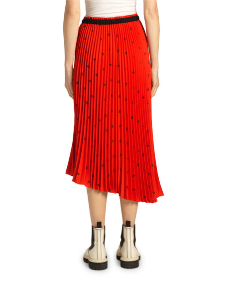 Proenza Schouler White Label Pleated Drawstring Midi Skirt