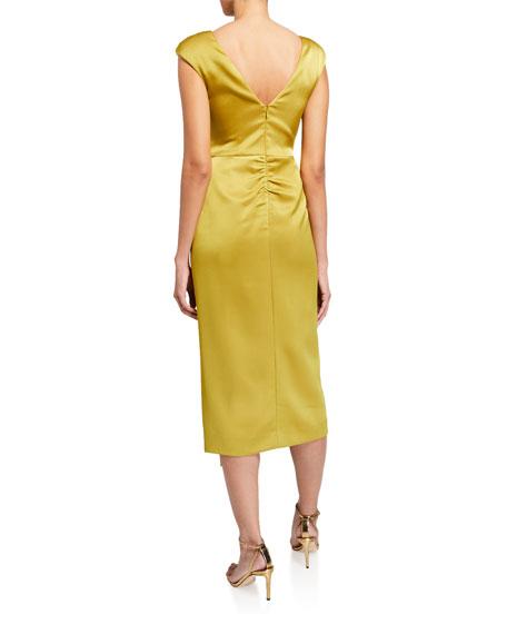 CAMILLA AND MARC Aspen Bias-Cut Cap-Sleeve Satin Dress