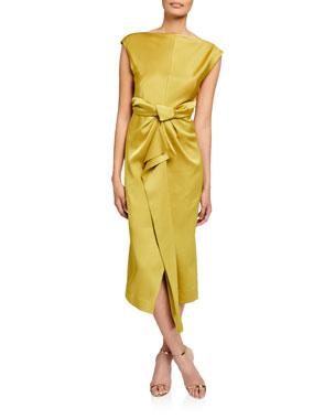 7d155c0f915b CAMILLA AND MARC Aspen Bias-Cut Cap-Sleeve Satin Dress