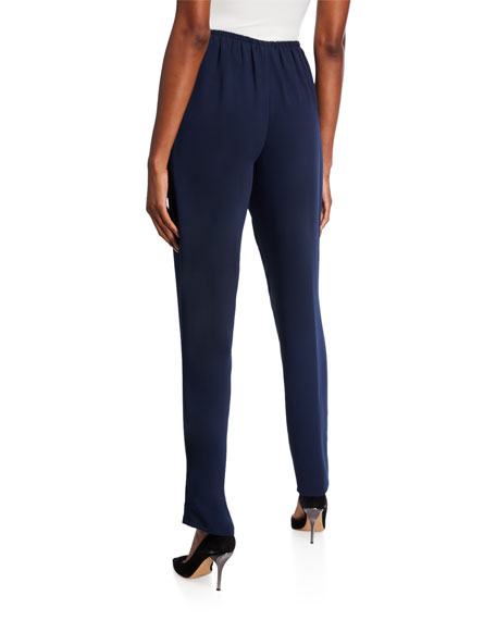 Caroline Rose Crepe Suzette Slim Pants