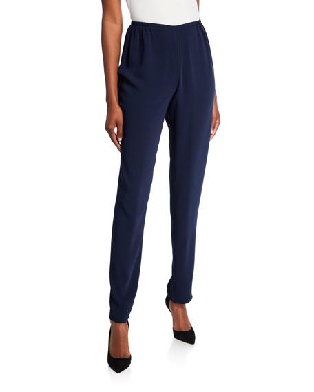 Caroline Rose Plus Size Crepe Suzette Slim Pants