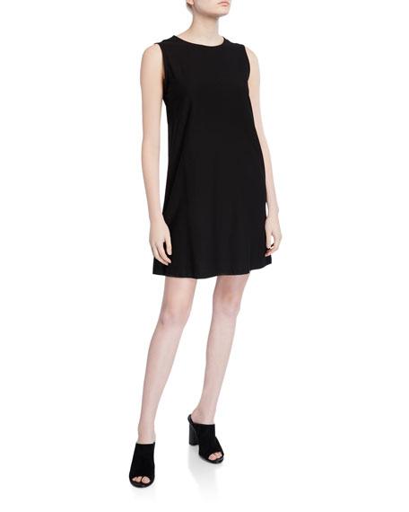 Eileen Fisher Petite Sleeveless Lightweight Crepe Shift Dress