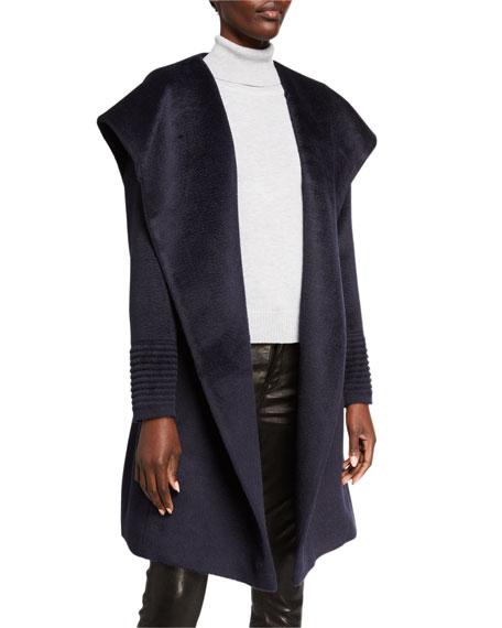 Sentaler Mid-Length Hooded Suri Alpaca Wrap Coat