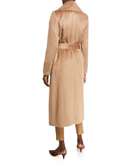 Sentaler Oversized-Collar Wrap Midi Suri Alpaca Coat