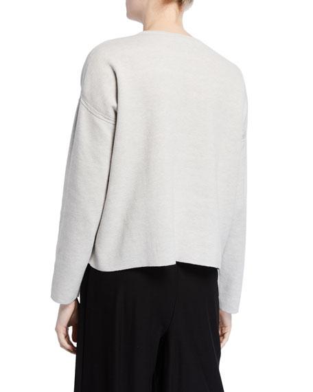 Eileen Fisher Reversible Crewneck Organic Cotton/Silk Sweater