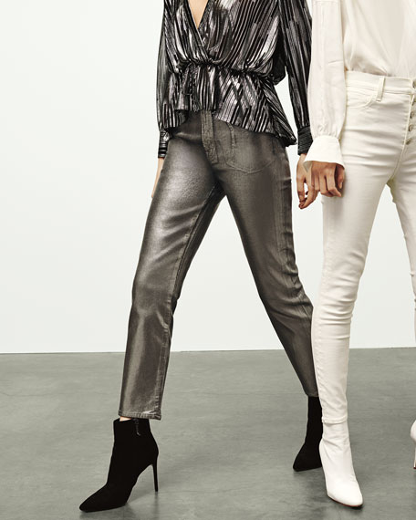 J Brand Ruby High-Rise Cigarette Crop Jeans