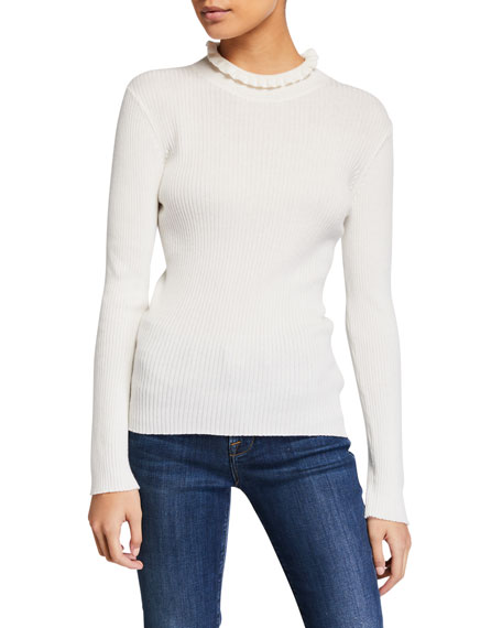 Frame Sweaters RUFFLED TURTLENECK SWEATER