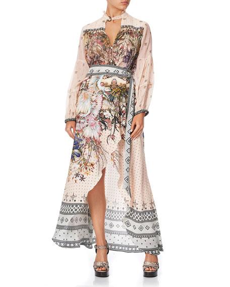 Camilla Printed High-Low Wrap Skirt