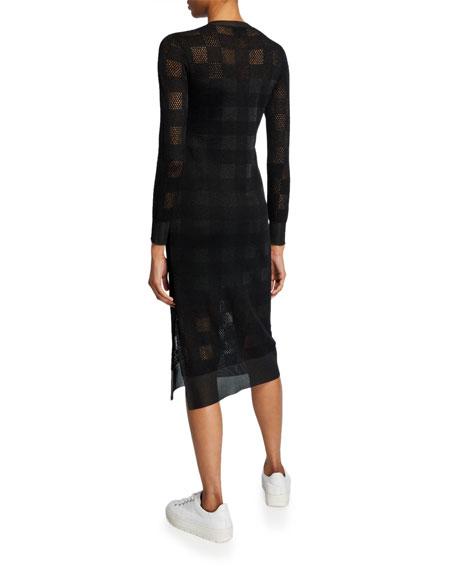 Rag & Bone Charlotte Knit Plaid Long-Sleeve Dress