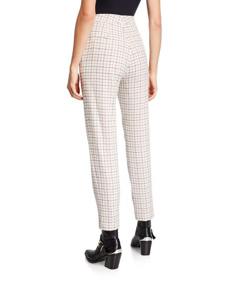 Rag & Bone Poppy High-Waist Wool Check Pants
