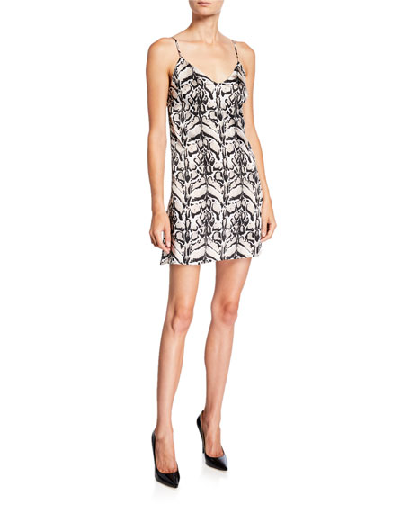 Image 1 of 2: Loyd/Ford Tiger Silk Mini Slip Dress