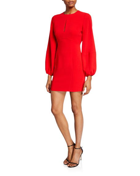 cinq a sept Danica Balloon-Sleeve Mini Dress