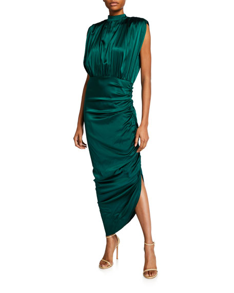 Veronica Beard Kendall Shirred Sleeveless Dress by Veronica Beard