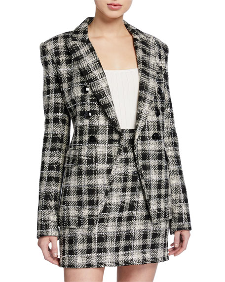 Veronica Beard Miller Plaid Dickey Jacket