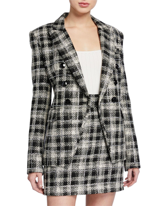Miller Plaid Dickey Jacket by Veronica Beard