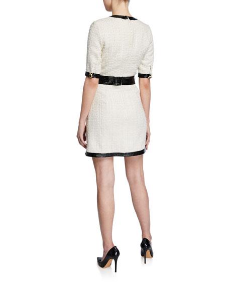 Veronica Beard Simona Tweed Button-Front Dress