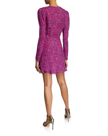 Veronica Beard Verona Floral Long-Sleeve Cocktail Dress