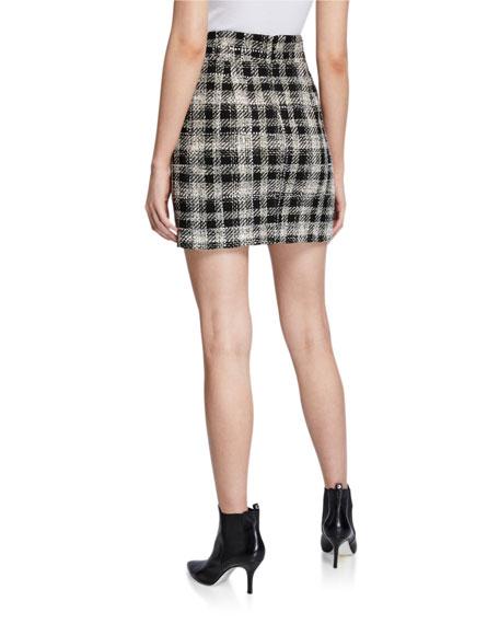 Veronica Beard Arezzo Plaid Skirt