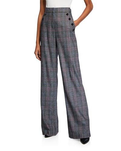 Tuli High-Rise Glen Check Pants
