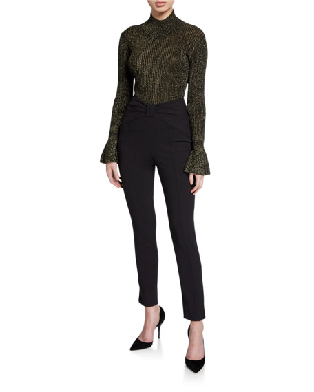 Veronica Beard Ferdinand High-Rise Ankle Pants