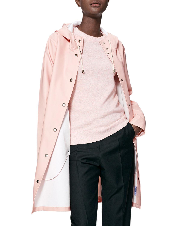 Mosebacke Rubberized Raincoat, Pale Pink by Stutterheim