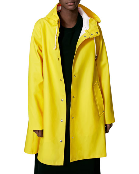 Stutterheim Mosebacke Rubberized Raincoat, Yellow