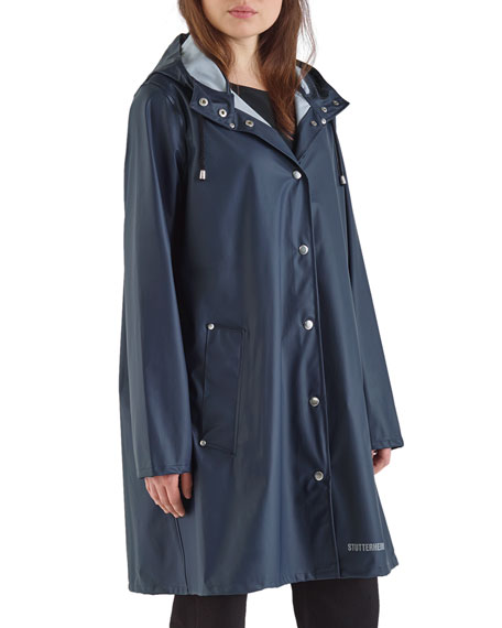 Stutterheim Mosebacke Lightweight Raincoat, Navy