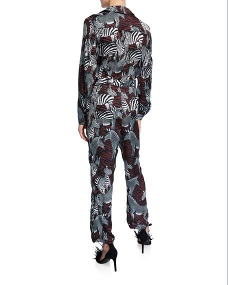 Le Superbe Goodall Zebra-Print Jumpsuit