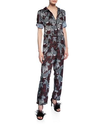 Goodall Zebra-Print Jumpsuit