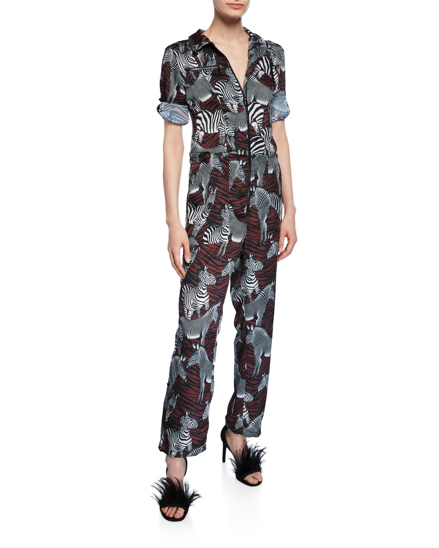 Goodall Zebra Print Jumpsuit by Le Superbe