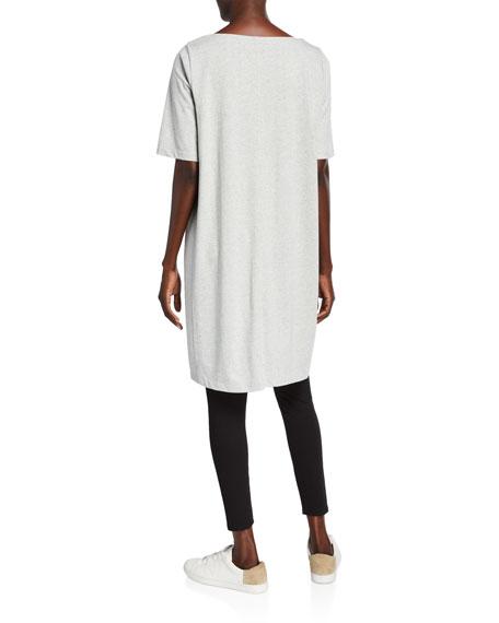 Eileen Fisher Speckle Knit Short-Sleeve Dress