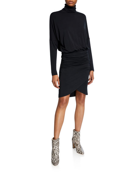 Veronica Beard Rollins Turtleneck Dolman Dress