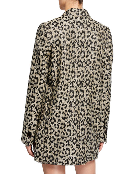 Le Superbe Mrs. Setzer Leopard-Print Jacket Dress