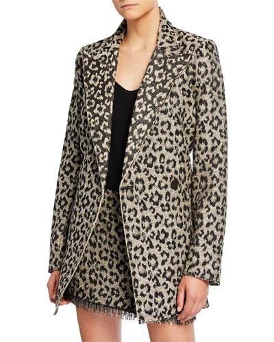 Mrs. Setzer Leopard-Print Jacket Dress